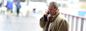 Man talking a smartphone